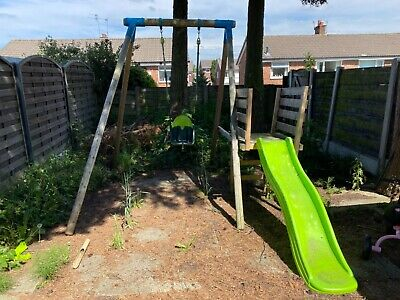 £125 • Buy Tp Toys Climbing Frame. Kids Wooden Outdoor Swing And Slide. RRP £250