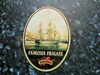£4.99 • Buy Camerons Famous Frigate Beer Pump Clip Front