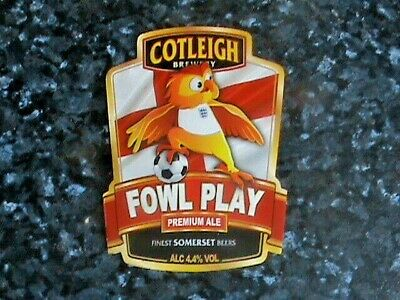 £6.99 • Buy Cotleigh Foul Play Beer Pump Clip Front England Football Theme