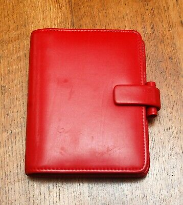 £5 • Buy Filofax Metropol Pocket Organiser - Red With Inserts