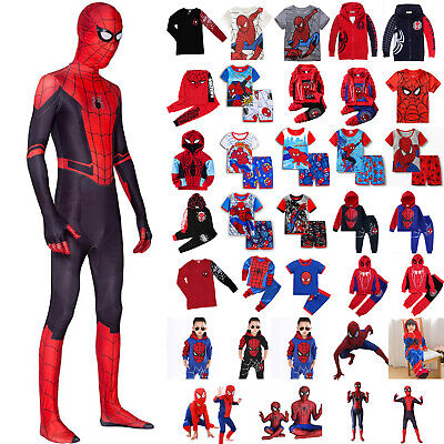 £8.99 • Buy Kids Child Superhero Fancy Dress Outfits Boys Cosplay Spiderman Costume Clothes