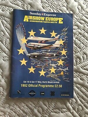 £0.99 • Buy Airshow Europe 1992 Official Programme