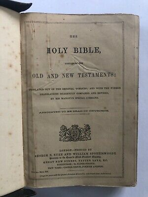 £20 • Buy The Holy Bible Containing The Old And New Testaments, Eyre & Spottiswoode, 1800s