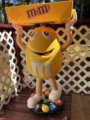 $250 • Buy Yellow M&M Character Large Candy Store Display W/ Storage Tray