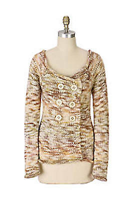 $ CDN18.66 • Buy Beautiful SLEEPING ON SNOW Anthropologie Marled Wool Double Breasted Sweater SM