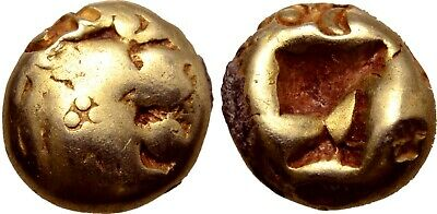 £492.53 • Buy WORLD'S OLDEST COINS! LYDIA Alyattes 610-560 BC 1/12 Stater Rare Ancient Gold