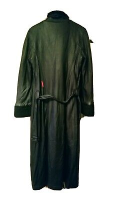 £3.50 • Buy Goth Style Miss Sixty Long Leather Black Coat With Woolly Lineing. Size Large 18