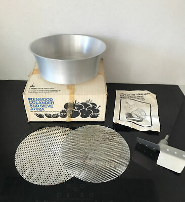 £29.99 • Buy Vintage KENWOOD CHEF A792A Sieve & Colander Fits Mixer A901 Boxed