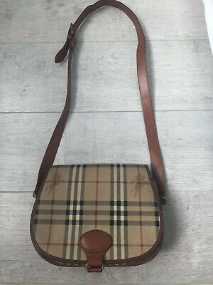£90 • Buy Burberry Vintage Haymarket Check Saddle Bag - Quick Sell-Competitive Price !