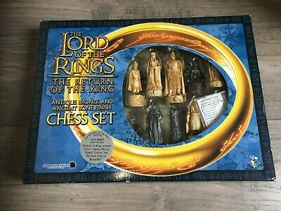 £35 • Buy Lord Of The Rings Chess Set - Return Of The King - Bronze And Bone Finish
