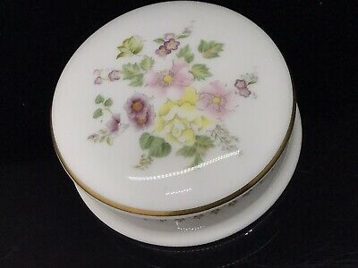 £1.99 • Buy Wedgwood Mirabelle Porcelain Trinket Box Floral Yellow Pink Red White Roses
