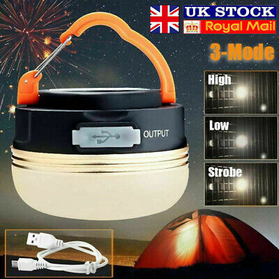 £10.91 • Buy LED Camping Light USB Rechargeable Tent Lantern Outdoor Super Bright Night Lamp