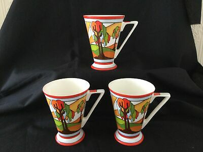 £29.99 • Buy Past Times Art Deco Clarice Cliff Style Mugs X 3 New