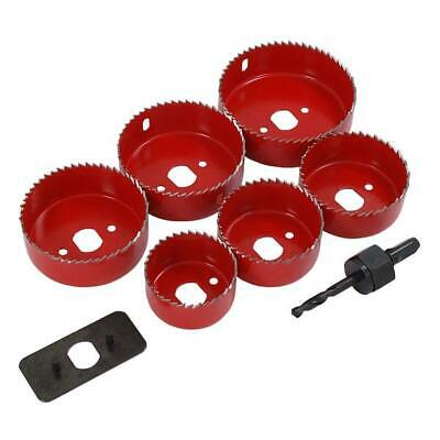 £8.95 • Buy 9pc LS110 Hole Saw Down Lights Hole Cutter Saw Set 51, 60mm 64mm 70mm 76mm 86mm