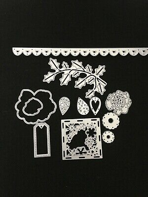 £1.80 • Buy Cutting Dies Bundle Various Dies All New Apart From The Holly Used Once