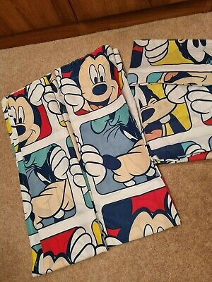 £10 • Buy Disney Mickey Mouse Cot Bed Set Duvet And Matching Curtains