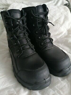 £15.99 • Buy Police Army Safety Hot Weather Black Leather Tactical Combat Boots Size 40  6.5