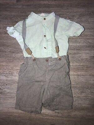£8 • Buy H&M Baby Boy Outfit / Set - Shirt & Shorts With Braces 18-24 Months
