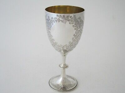 £650 • Buy Antique Victorian Sterling Silver Wine Goblet - 1890 By Charles Stuart Harris