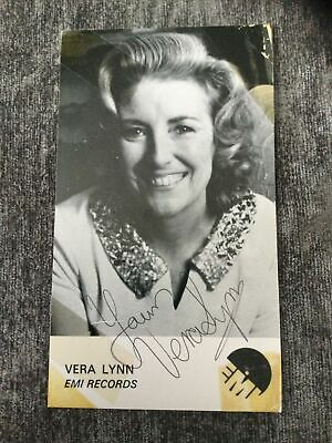 £10.99 • Buy Dame Vera Lynn Signed Emi Promo Card And Compliments Slip