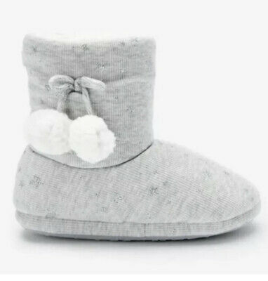 £11.50 • Buy Women's Next Grey Boot Slippers With Stars Size Small UK 3-4 New £20 Bootie.