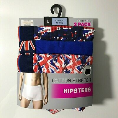 £12 • Buy Union Jack Men's Hipsters Boxer Briefs Size L 3 X Pairs Hipsters
