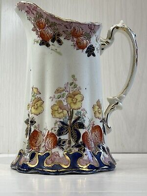 £20 • Buy Antique Victorian Staffordshire Pottery Water Jug Pitcher Vase