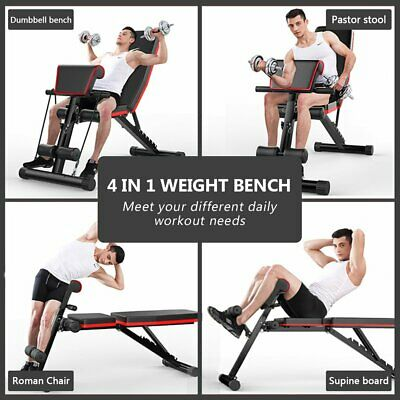 £52.99 • Buy Foldable Flat/Incline/Decline Workout Bench For Full Body Upgrade Exercise Bench
