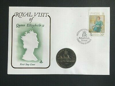 £3.70 • Buy Gb/guernsey 1989 £2.00 Coin Royal Visit Fdc Cover
