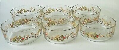 £80 • Buy Marks And Spencer Harvest Glass Fruit Bowls / Dishes X 6