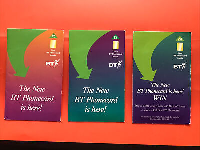£4.99 • Buy The New BT Phonecard Is Here! Set Of 3 Cards As £2 £5 £10 Presentation Leaflet