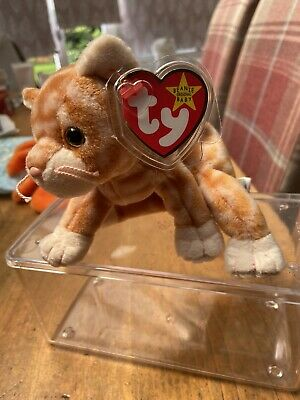 £1.20 • Buy Amber The Ginger Cat Ty Beanie Babies Baby Soft Toy With Tag Teddy Fast Dispatch
