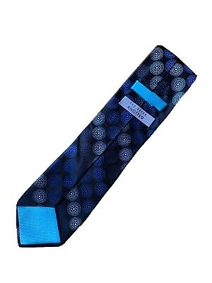 £4.99 • Buy Ted Baker Knotted Mens Tie 100% Silk Blue Circles Dots Pattern Design - VGC