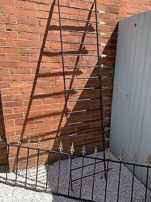 £110 • Buy Wrought Iron Garden Fence Railings X2 230cm Or 7 1/2ft Each