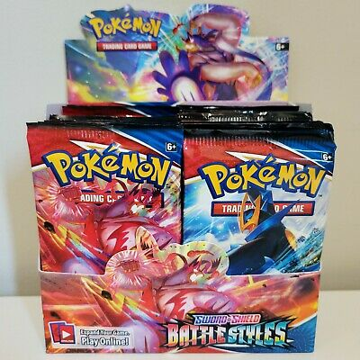 $44.95 • Buy 10 BATTLE STYLES Booster Pack Lot - Factory Sealed Packs From Box Pokemon Cards
