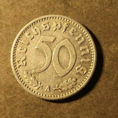 £1.34 • Buy Germany 3rd Reich 50 Pfennig Coin Dated 1942 A. Aluminium Nice Coin
