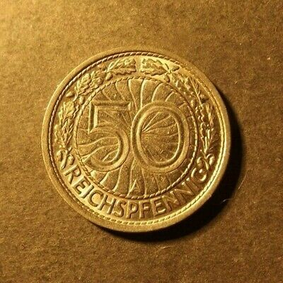 £1.34 • Buy Germany Weimar Republic 50 Pfennig Coin Dated 1928 A. A Superb Looking Coin.