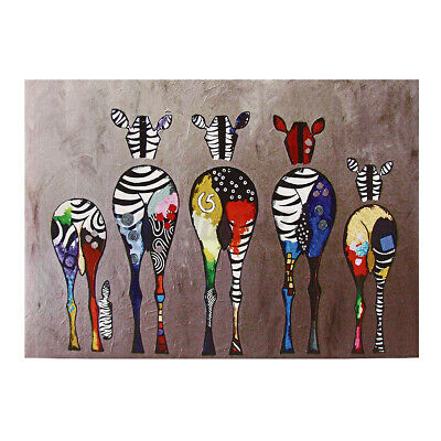 £10.35 • Buy Unframed Five Zebra Ass Canvas Print Oil Painting Wall Art Picture Home