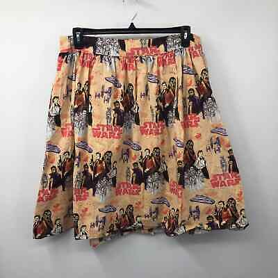 £32.59 • Buy Star Wars Her Universe Retro Solo Galaxy Printed Skirt Flare Tea Length Size 2X