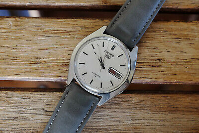 $ CDN1.48 • Buy Seiko 5 Automatic  Ref. 7009-8040 All Steel From 1980  [E_1272]  Start 1 Euro NR