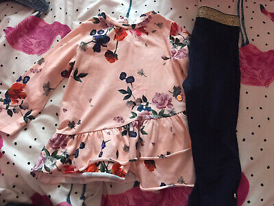 £8 • Buy Ted Baker Baby Girl 12-18 Months Pink Floral Oufit