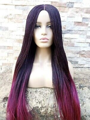 £27 • Buy New Braided Twist Wig Colour Ombre Black/Pink Closure