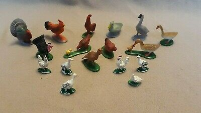 £3.80 • Buy Toy Farmyard  Animals  - Poultry X 17 - Hens Geese Chickens