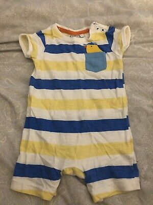 £1.30 • Buy Blue Zoo Baby Romper 6-9 Months Summer Outfit Duck Design