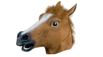 £7.49 • Buy New Rubber Horse Head Mask Fancy Dress Party Cosplay Halloween Adult Costume