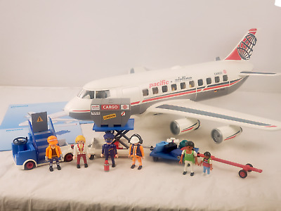 £107.37 • Buy Playmobil 4310 + 4315 Airplane Airport Set COMPLETE Pacific Airline Jumbo Jet