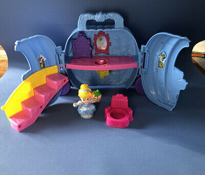 £8 • Buy Disney Fisher-Price Little People Cinderella Fold & Go Set Carriage Used Chair