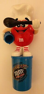 $19.99 • Buy RARE  M&M's M&m 2000 Euro MINIS Dispenser Red Chef With Large Eyes From Germany