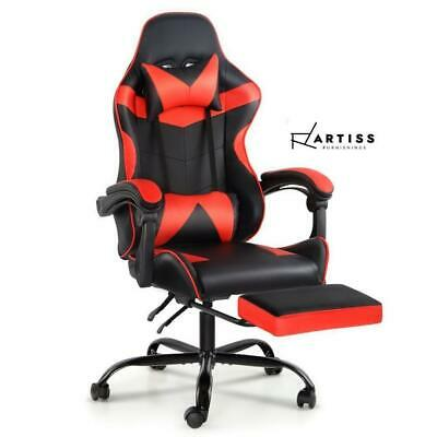 AU131.75 • Buy RETURNs Artiss Gaming Office Chair Computer Chairs Seat Racing Recliner Black Re
