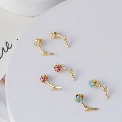 $ CDN30.44 • Buy Kate Spade Colorful Flower Glossy Leaf Removable Earrings WITH DUST BAG